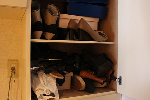 ババーン。四季折々の靴が全員集合!