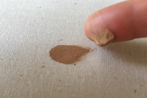 人差し指で強めに拭ってみた