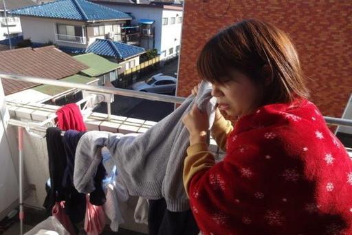 一昨日干した洗濯物がまだ乾いてない……っ!