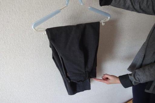 NGな干し方。省スペースで干せるが、布同士が重なりまくっていて乾きにくい
