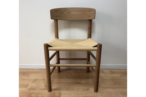 天然木と麻の椅子