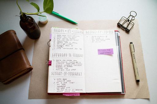 タスク・予定・メモなどの事柄をノートに箇条書きにして整理するバレットジャーナル。スケジュール帳よりも自由度が高いのがポイント