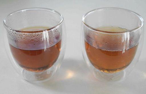 「teploティーポット」で同じ茶葉を使っても、なりたい気分や飲み手の体調によってこれだけ変わる(筆者撮影)