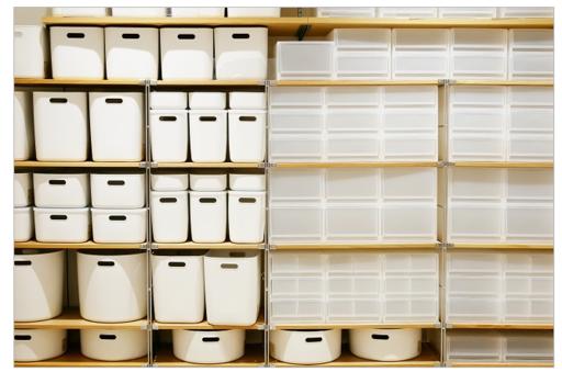 シンプルで機能的な無印良品の収納ボックスを利用しよう!