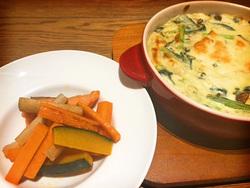 若さと抗酸化に! 鮭とかぼちゃの焼き浸し/小松菜としらすのオーブン焼き