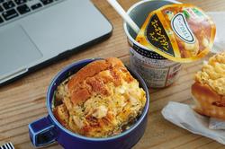 【コンビニ飯レシピ】簡単昼ごはん!3分デスク飯〈サラダ・スープ・カレー・パン編〉