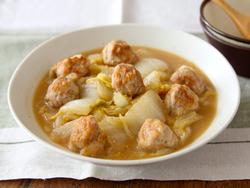 【きょうの健康レシピ】フライパンで簡単! 豚こま団子とハクサイのあんかけ