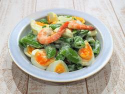【きょうの健康レシピ】スナップエンドウとエビのサラダ