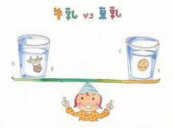 牛乳 vs 豆乳
