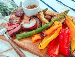 【きょうの健康レシピ】彩り野菜と牛肉のグリル~しょうゆ香るメープルジンジャーソース~
