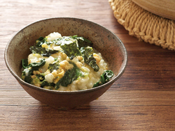 【きょうの健康レシピ】サケとホウレンソウの雑炊