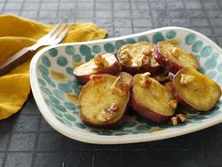 【きょうの健康レシピ】サツマイモとクルミのハニーレモンいため