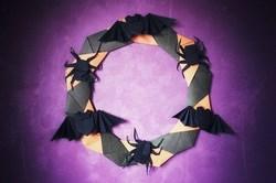 折り紙ハロウィンリースの簡単な作り方を写真たっぷりでご紹介!