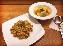 海老とタラのブイヤベース風スープ/ローカロリードライカレー