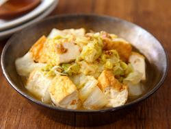 【きょうの健康レシピ】レンジでハクサイと厚揚げのうま煮…カツオ節でうま味をプラス