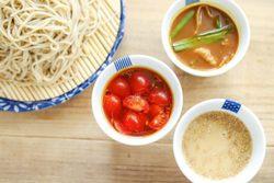 引越しそばパーティを開こう! 3種のタレで食べる、簡単つけそばレシピ