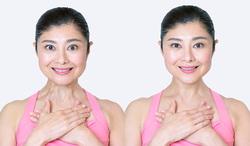 顔ヨガ/あごスッキリポーズ