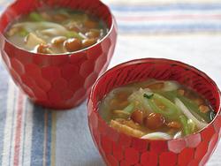 【きょうの健康レシピ】具だくさんナメコの納豆汁…高血圧予防