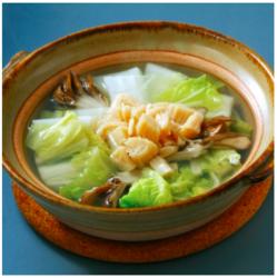 【週刊シル×旬のヘルシー時短レシピ】ほたてと白菜の鍋[70kcal以下/15分]