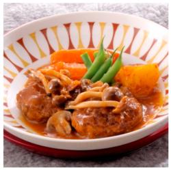 【満腹♡低カロリー!シル レシピ】きのこ入りハンバーグシチュー[261kcal]