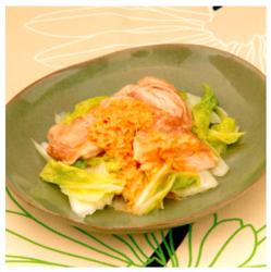 【シル レシピ×旬のヘルシー時短レシピ】蒸し鶏のごまソース[142kcal/10分]