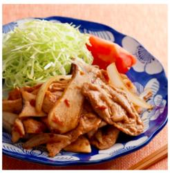 【シル レシピ×旬のヘルシー時短レシピ】豚もも肉とエリンギのしょうが焼き[209kcal/15分]